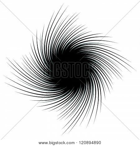 Abstract Spiky Shape With Rotating Distortion Effect
