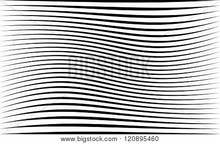 Abstract Pattern / Texture With Wavy, Billowy Lines