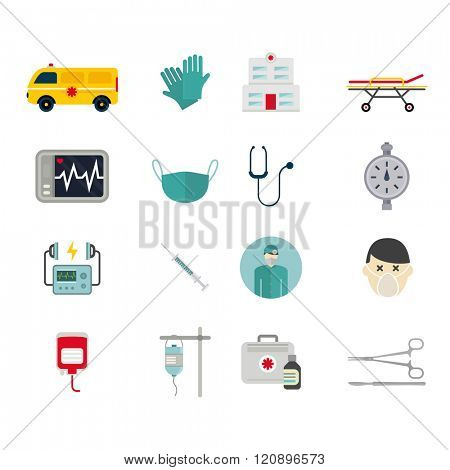 Ambulance reanimation icons vector illustration. Ambulance reanimation icons isolated on white background. Ambulance reanimation icons silhouette. Ambulance reanimation car and doctors