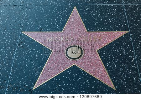 Mickey Gilley Hollywood Star