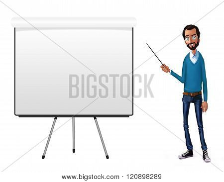 Business Speech Near The Flip Chart