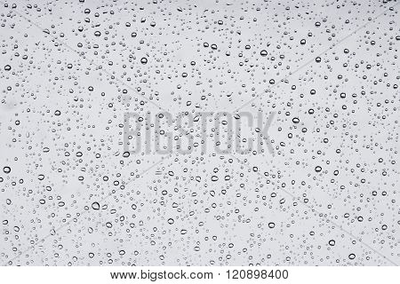 wet window in drops