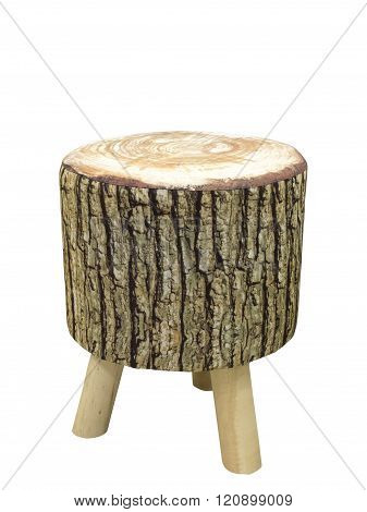 Padded Stool In The Form Of A Stub