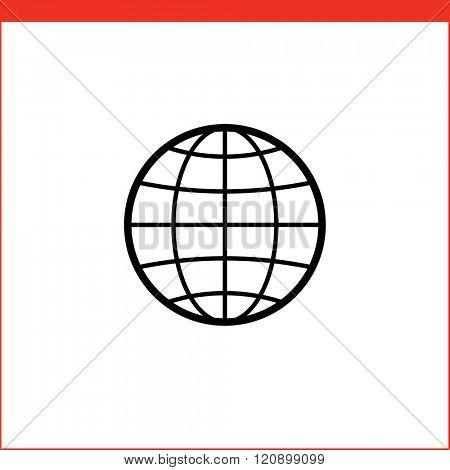 Globe vector icon for logistic company