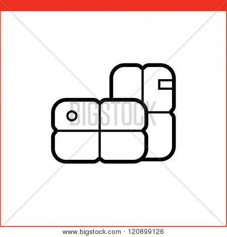 Parcel package box icon.
