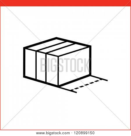 Size of package box icon.