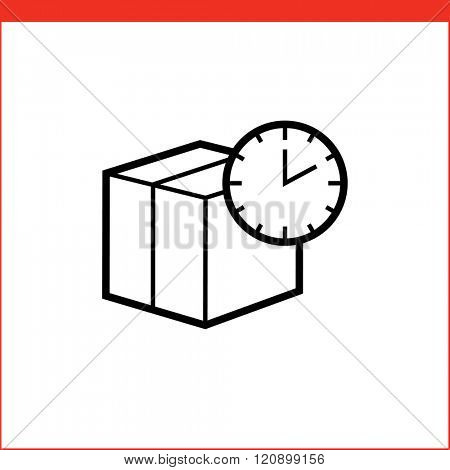 Package box time delivery icon.