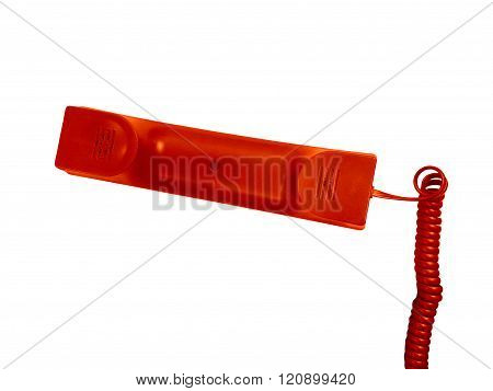 Red Telephone Receiver.