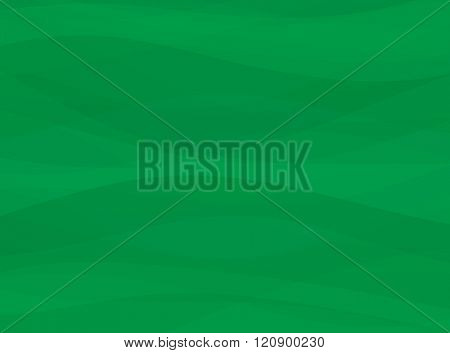 Abstract green wave lines background. Vector abstract background