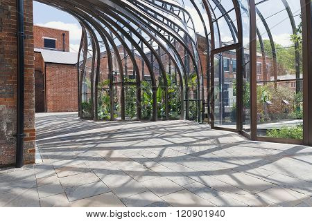 Laverstoke Mill England - May 2015: Photo captured of the Bombay Sapphire Distillery the re-developm