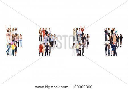 Workforce Concept Achievement Idea