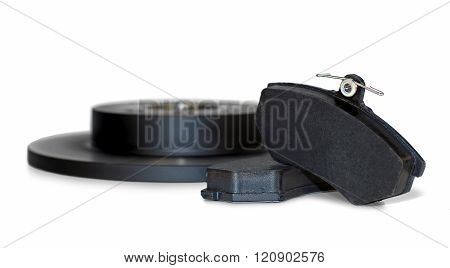 Brake pads and brake disc