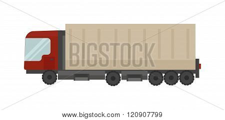 Cargo truck vector illustration