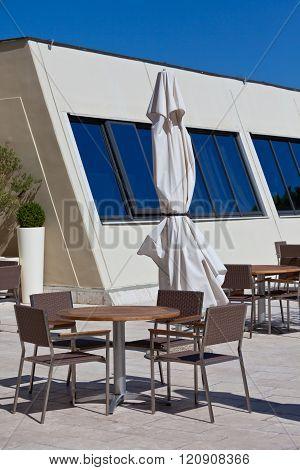 Summer Outdoor Cafe