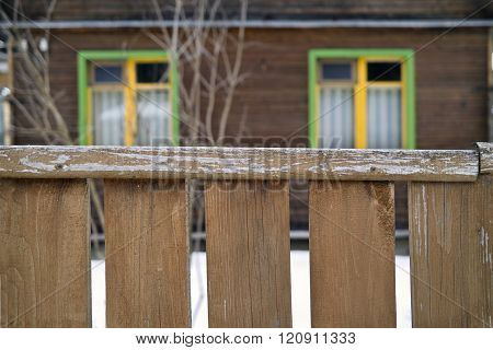 House Behind A Fence