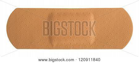 adhesive rectangular plaster isolated on a white background
