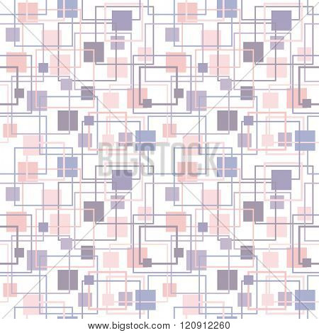 Abstract geometric pattern in lilac and rose colors. Serenity and Rose Quartz Tint seamless Texture. Pastel Colored Background