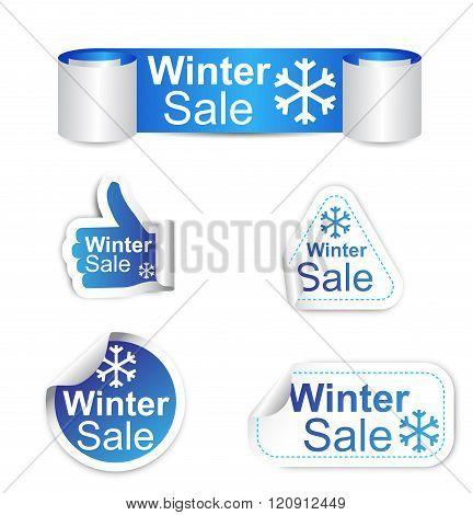 Set Of Stickers - Winter Sale
