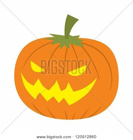 Pumpkin head vector illustration