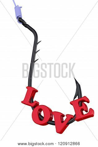 Love as a dangerous lure. Concept