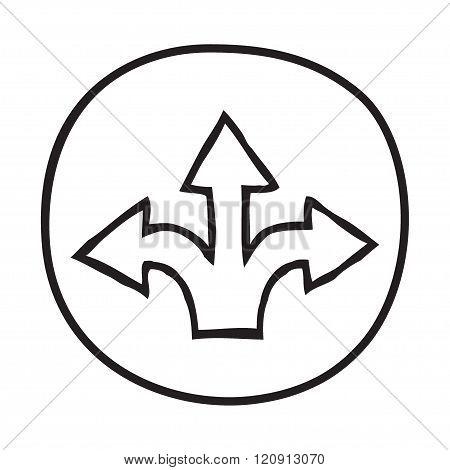 Doodle 3 Arrows icon.
