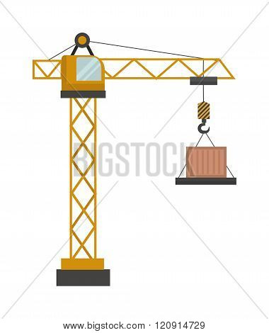 Construction crane vector illustration
