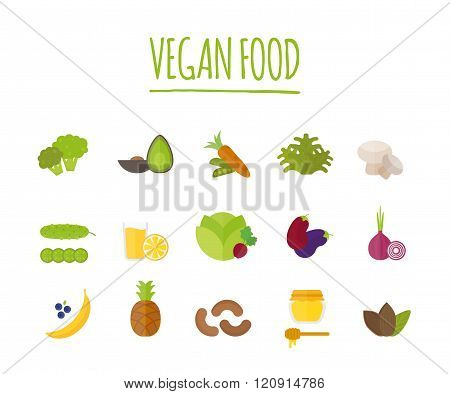 Vegan food vector illustration