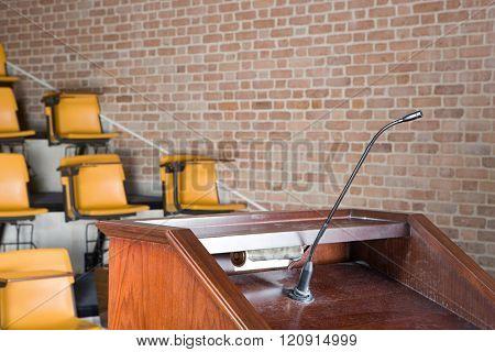 Empty lecture theatre
