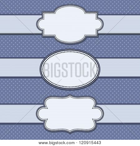 vector set simple texture and vintage ribbons.Vector illustration.