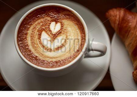 Cappuccino with beautiful foam