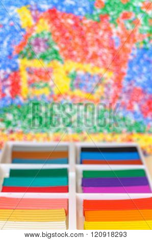 Multicolor Plasticine Blocks Background