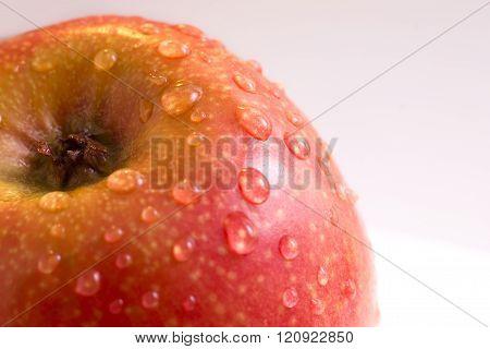 Red apple. Macro