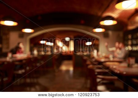Restaurant blurred background