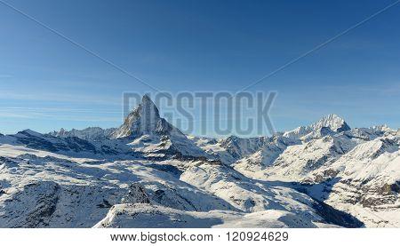 Matterhorn From Gornergrat Above Zermatt