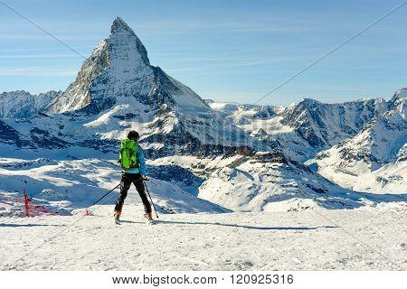Gornergrat Skier