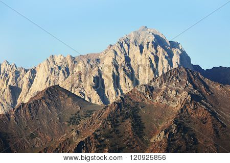 Majestic Jagged Peak in Sierra Nevada Mountains