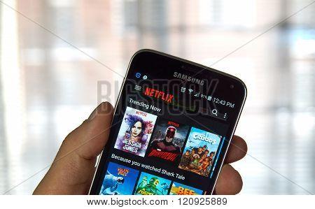 Netflix Mobile App.