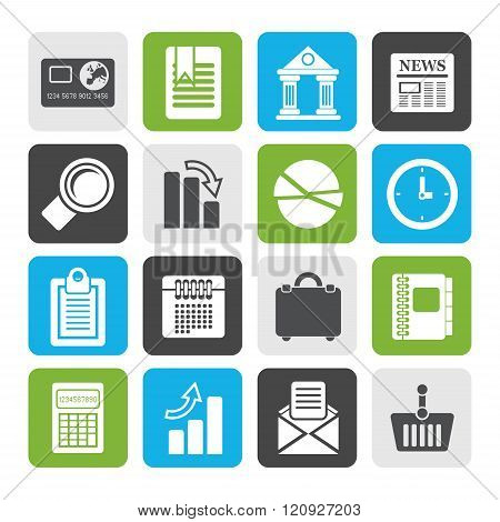 Flat Business and Office Realistic Internet Icons