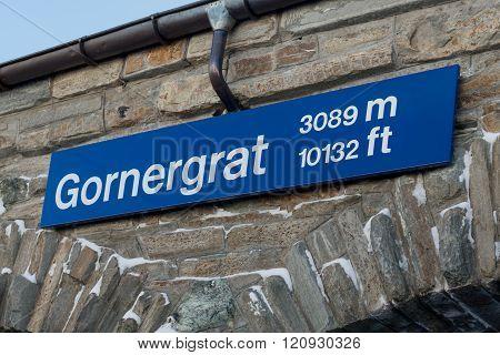 Gornergrat sign