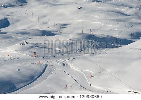 Ski Runs On Gornergrat