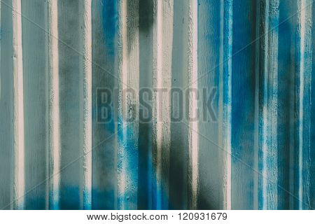 Color drops on galvanized iron plate