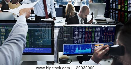 People Working Finance Stock Exchange Concept