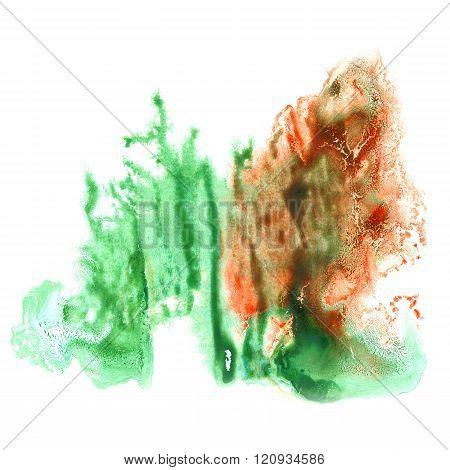 paint splash color ink watercolor isolated stroke splatter watercolour green burgundy aquarel brush