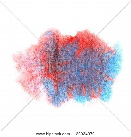 paint splash color ink watercolor red blue isolated stroke splatter watercolour aquarel brush