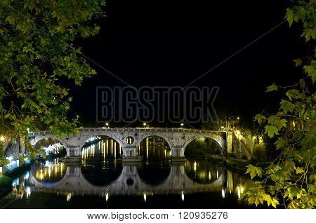 Tevere Bridge (tiber river)