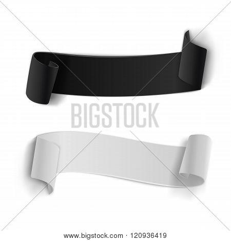 Realistic Vector Ribbon Banner Set. 3D Vector Banner Set Isolate