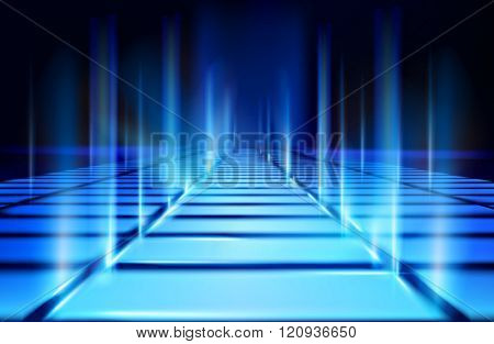 Virtual projection. Vector illustration.