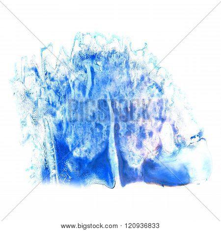 paint splash violet blue color ink watercolor isolated stroke splatter watercolour aquarel brush