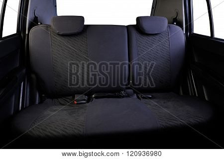 Back Seats Car Isolated