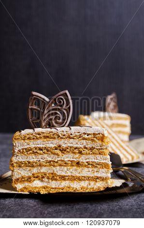 Slices Of Homemade Cake